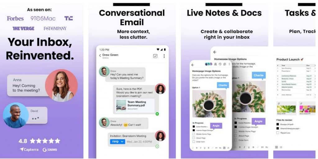 conversational email app