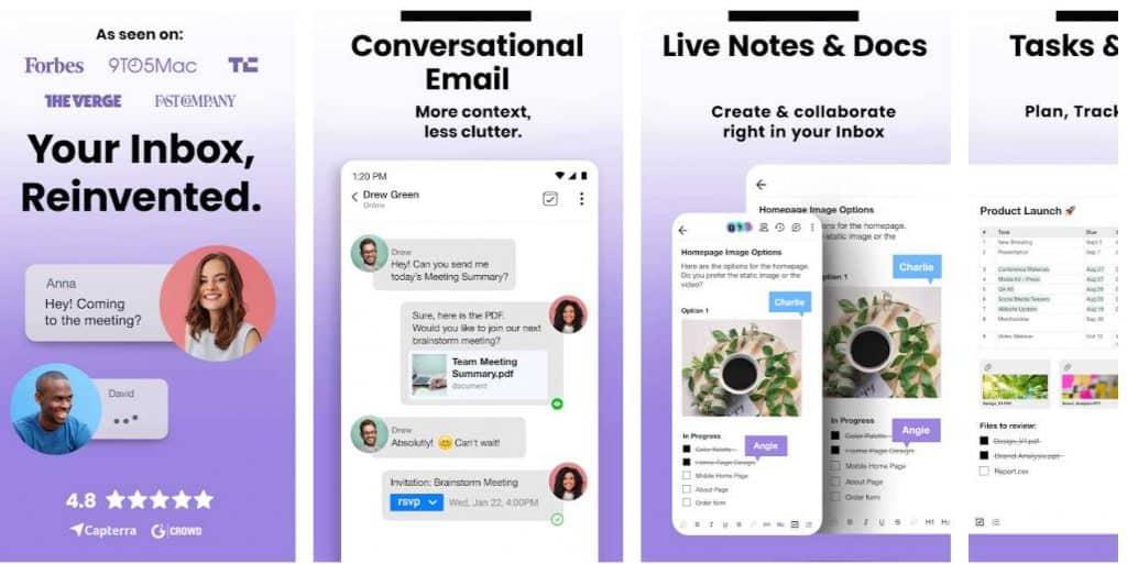 conversational email app