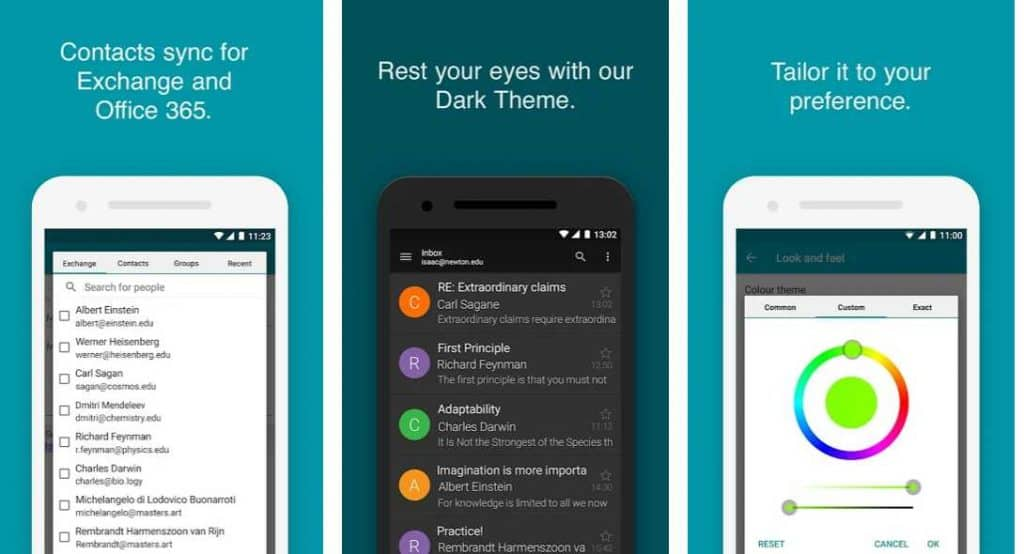 dark theme email